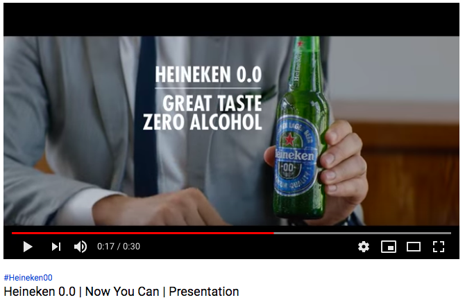 Heineken zero alcohol beer